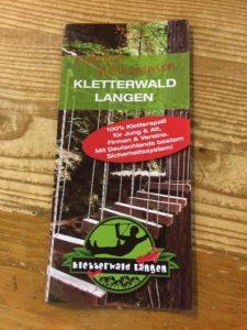 Hier steht alles drin: Kletterwald Langen